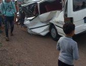 انتحار سيدة بسبب خلافات مع زوجها وإصابة 8 أشخاص في حادث تصام بكفر الشيخ