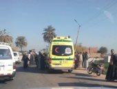 مصرع 3 سيدات وإصابة 11 شخصا فى تصادم ميكروباص بسيارة نقل فى بنى سويف
