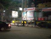 رفع تراكمات مياه الأمطار من شارع جمال عبد الناصر  بمنطقة فيكتوريا فى الإسكندرية