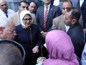 وزيرة الصحة تتفقد أعمال التطوير بالمبنى البحرى بمستشفى بورسعيد العام