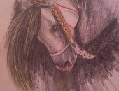 """""""كاريمان"""" تشارك بلوحات برسومات مميزة باستخدام القلم الرصاص والألوان"""