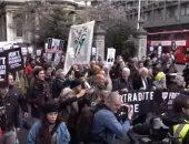"""بعد تسريبه وثائق سرية.. تظاهرة بريطانية دعما لمؤسس """"ويكيليكس"""".. فيديو"""