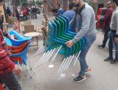صور.. حملات مكبرة لإزالة الإشغالات على مستوى أحياء الإسكندرية