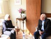 محافظ بورسعيد يستقبل وزيرة الصحة لمتابعة منظومة التأمين الصحى الشامل.. صور