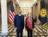 """""""النايض"""" يفتتح زيارته لأمريكا باجتماع مع نائبة رئيس الأمن القومى الأمريكى"""