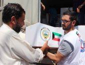 الكويت تسير 203 شاحنات لإغاثة اللاجئين فى سوريا واليمن