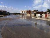 سقوط أمطار خفيفة بشكل متقطع على مطروح والساحل الشمالى