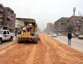 صور.. انطلاق أعمال توسعة شارع 15 مايو بشبرا الخيمة بطول 8 كيلو مترات