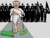 """كاريكاتير صحيفة إماراتية.. """"أردوغان"""" هو القائد الأعلى لتنظيم داعش"""