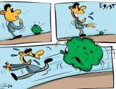 كاريكاتير صحيفة كويتية.. تفحل فيروس كورونا