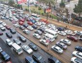 صور.. أمطار غزيرة على القاهرة والجيزة.. والأرصاد تحذر: الموجة مستمرة