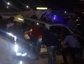 مصرع شخصين وإصابة 11 آخرين فى حادث تصادم بقنا