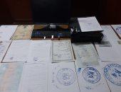 ضبط شخص يزور المحررات الرسمية والمستندات المرورية بالجيزة