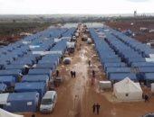 شاهد... لقطات جوية لمخيمات اللاجئين فى إدلب