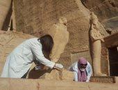 """""""الآثار"""" تنتهى من أعمال تطوير وترميم بمعبد أبوسمبل.. صور"""