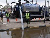فيديو.. رئيس القابضة للمياه: الدفع بـ 725 معدة لسحب مياه الأمطار بالمحافظات