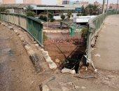أهالى شبرا الخيمة يطالبون بإصلاح كوبرى السواح لتساقط السور الحديدى