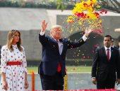 """ترامب يزور النصب التذكارى لـ""""مهاتما غاندى"""" فى الهند"""