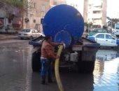 سقوط أمطار ببورسعيد والمحافظ يوجه بسرعة رفع تراكمات مياه