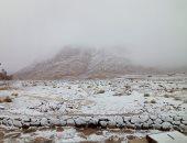 كأنك فى أوروبا.. شاهد جمال الثلوج تغطى جبال سانت كاترين