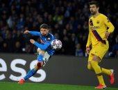 نابولي ضد برشلونة.. البارسا فى ورطة بعد التأخر 1-0 فى الشوط الأول.. فيديو