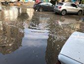 صور.. غرق الشوارع الرئيسية فى الدقى والمهندسين بمياه الأمطار