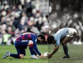 ميسي VS مارادونا.. قائد برشلونة يظهر فى مسرح تألق الأسطورة لأول مرة