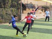 الطقس السيئ يؤجل مباريات دورى كرة القدم النسائية بين طالبات القليوبية
