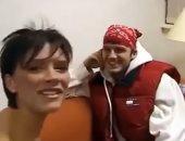 فيكتوريا تسترجع قصة حبها مع ديفيد بيكهام بفيديو منذ 20 سنة