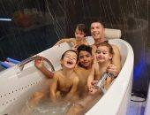 """موقف مضحك للدون .. كريستيانو رونالدو وأولاده فى """"البانيو""""× صورة"""
