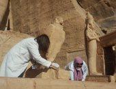 صور.. السياحة والآثار تنتهى من تطوير معبدى أبو سمبل بأسوان