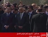 """رئيس مجلس النواب يصل مسجد المشير طنطاوى لحضور مراسم جنازة """"مبارك"""""""