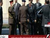 السيسي يصل  مسجد المشير للمشاركة فى جنازة الرئيس الأسبق حسني مبارك