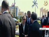 الرئيس السيسى يقدم العزاء لسوزان مبارك خلال جنازة الرئيس الأسبق