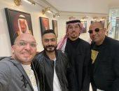 صور.. تامر حسنى يصل السعودية لإحياء حفله بمشاركة النجم الأمريكى أكون