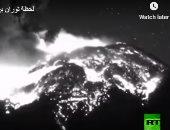 الى عنان السماء.. لحظة ثوران بركان في المكسيك