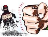 كاريكاتير صحيفة سعودية يسلط الضوء على دور المملكة فى محاربة الإرهاب