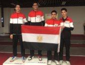 صور .. أدهم معتز يضيف ذهبية جديدة لمصر فى بطولة افريقيا للسلاح