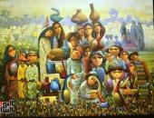 """خالد سرور يفتتح المعرض العام """"دعوة للرومانسية"""" بدورته الـ 41 بقصر الفنون"""