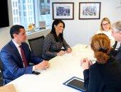 وزيرة التعاون تعقد عدة اجتماعات مع نواب رئيس البنك الدولى وعدد من المسئولين
