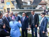 محافظ الإسكندرية: وضع رؤية شاملة لرفع كفاءة وتطوير ميدان سيدى جابر (صور)
