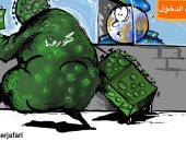 """صحيفة فلسطينية .. فيروس """"كورونا"""" أمام مكاتب تأشيرات الدخول بالمطارات"""