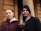 """جريتا ثونبرج تلتقى مالالا يوسف فى أكسفورد.. ويونيسف: """"مثالان يحتذى بهما"""".. صور"""