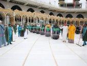 الشيخ السديس يتفقد أعمال تطيهر وتعقيم المسجد الحرام والنبوي