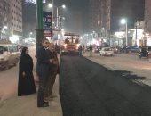اعمال رصف شارع الجلاء فى طنطا تقترب من نهايتها بعد 3 سنوات.. صور