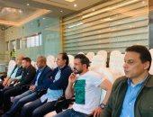 حسام البدري و جهاز المنتخب فى مباراة الزمالك و الترجي بدوري أبطال أفريقيا