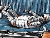كاريكاتير صحيفة سعودية.. الحل السياسى فى سوريا يدخل العناية المركزة