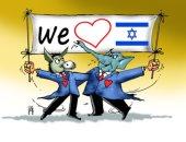 كاريكاتير صحيفة إماراتية.. الحمار والفيل يدعمان إسرائيل للفوز بالانتخابات