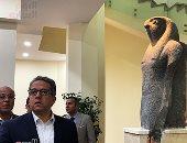 وزير السياحة والآثار يتفقد متحف الغردقة قبل وصول رئيس الوزراء