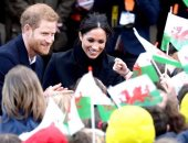 الأمير هاري وزوجته ميجان ماركل يشاركان فى احتفالات عيد القديس ديفيد بويلز